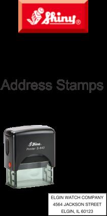 Shiny Address Stamps