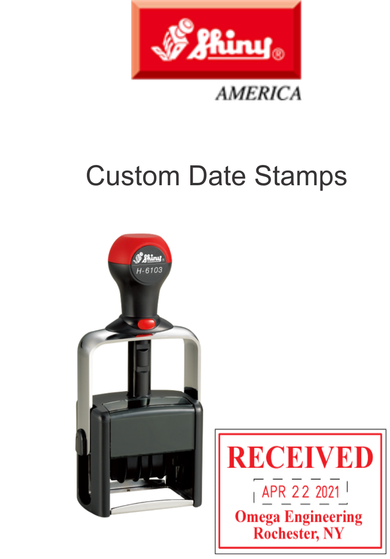 Shiny Custom Date Stamps