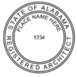 SALSIAS - Shiny R-542 Self-Inking Alabama Architect Seal