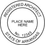 SARSIAS - Shiny R-542 Self-Inking Arkansas Architect Seal
