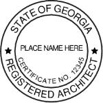 SGASIAS - Shiny R-542 Self-Inking Georgia Architect Seal