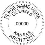 SKSSIAS - Shiny R-542 SElf-Inking Kansas Architect Seal