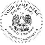SLASIAS - Shiny R-542 Self-Inking Louisiana Architect Seal