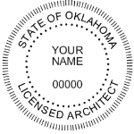 SOKSIAS - Shiny R-542 Self-Inking Oklahoma Architect Seal