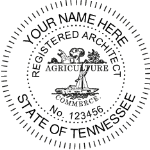 STNSIAS - Shiny R-542 Self-Inking Tennessee Architect Seal