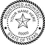 STXSIAS - Shiny R-542 Self-Inking Texas Architect Seal