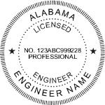 SALES - Shiny R-542 Self-Inking Alabama Engineer Seal