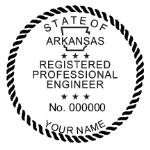 SARES - Shiny R-542 Self-Inking Arkansas Engineer Seal