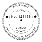 SFLES - R-552 Self-Inking Florida Engineer Seal