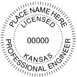 SKSES - Shiny R-542 Self-Inking Kansas Engineer Seal