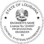 SLAES2 - Shiny R-542 Louisiana Engineer Seal w/Discipline