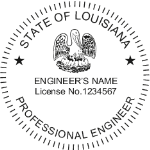 SLAES - Shiny R-542 Self-Inking Louisiana Engineer Seal