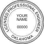 SOKES - Shiny R-542 Self-Inking Oklahoma Engineer Seal