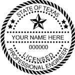 STXES - Shiny R-542 Self-Inking Texas Engineer Seal